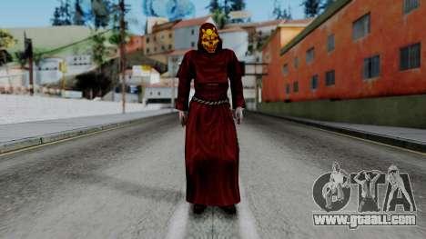 Monje Skull Gold Skin for GTA San Andreas second screenshot