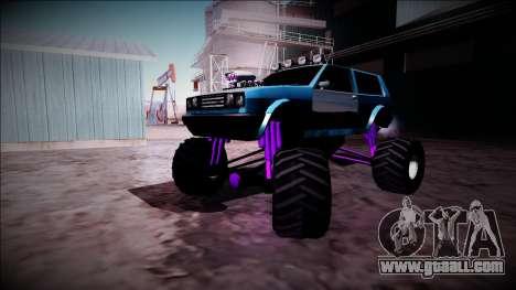 Club Monster Truck for GTA San Andreas inner view