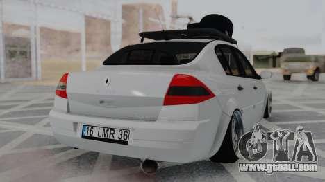 Renault Megane Sedan for GTA San Andreas left view