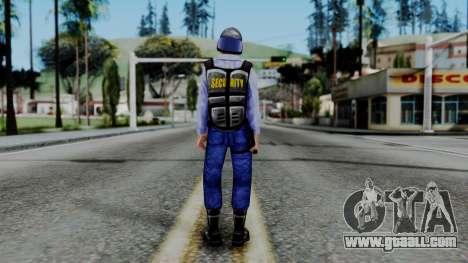 Barney Calhoun from Half Life Blue Shift for GTA San Andreas third screenshot