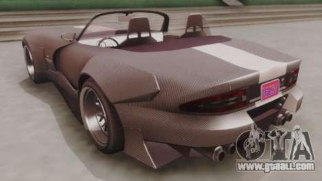 GTA 5 Bravado Banshee 900R Carbon for GTA San Andreas back left view