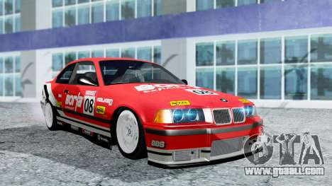BMW M3 Coupe E36 (320i) 1997 for GTA San Andreas upper view