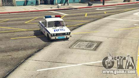 GTA 5 VAZ 2106 Police rear right side view
