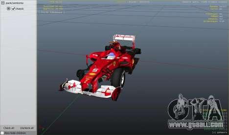 GTA 5 Ferrari F1 right side view