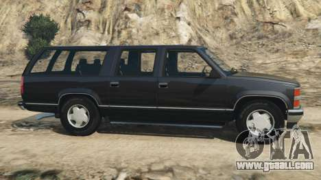 GTA 5 Chevrolet Suburban GMT400 left side view