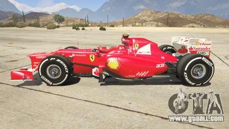 GTA 5 Ferrari F1 left side view