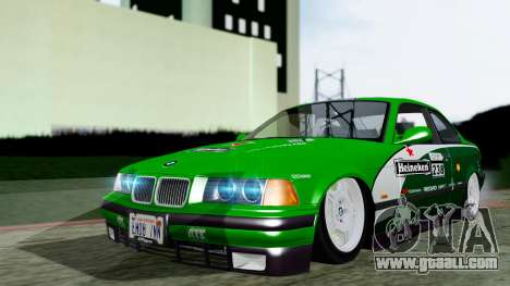 BMW M3 Coupe E36 (320i) 1997 for GTA San Andreas back view