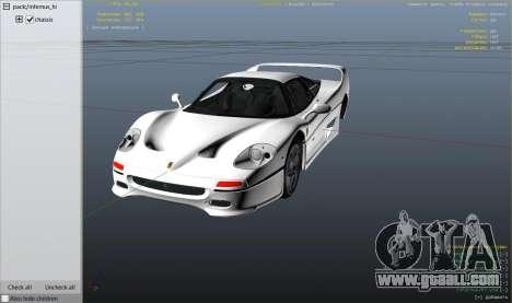 GTA 5 Ferrari F50 Autovista right side view