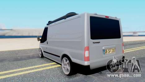 Ford Transit 2007 Model AirTran for GTA San Andreas back left view
