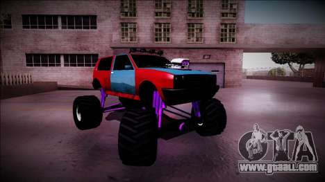 Club Monster Truck for GTA San Andreas upper view