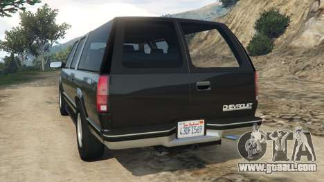 GTA 5 Chevrolet Suburban GMT400 rear left side view