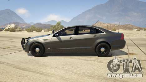 GTA 5 Unmarked Chevrolet Caprice left side view