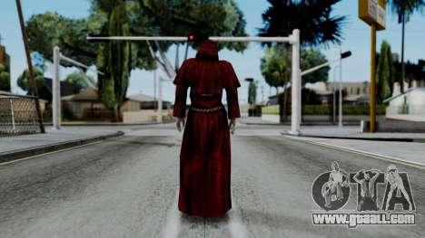 Monje Skull Gold Skin for GTA San Andreas third screenshot