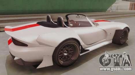 GTA 5 Bravado Banshee 900R IVF for GTA San Andreas back left view
