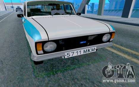 Moskvitch 412 Police for GTA San Andreas right view