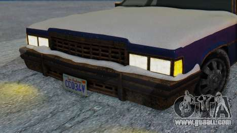 Albany Emperor North Yankton for GTA San Andreas back left view