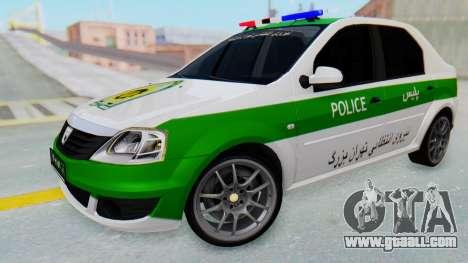 Dacia Logan Iranian Police Naja for GTA San Andreas