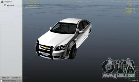 GTA 5 Unmarked Chevrolet Caprice right side view