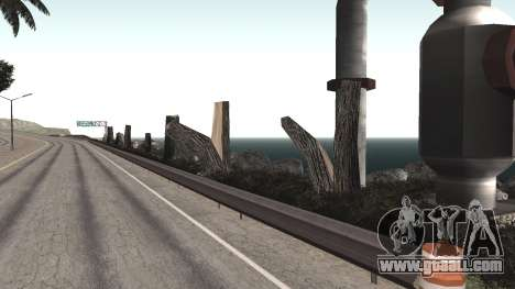 Road repair Los Santos - Las Venturas for GTA San Andreas eighth screenshot