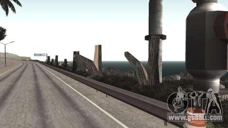 Road repair Los Santos - Las Venturas for GTA San Andreas eighth screenshot