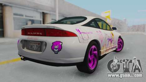 Mitsubishi Eclipse GST Nepgear Itasha for GTA San Andreas left view