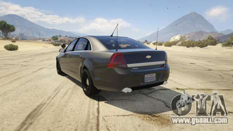 GTA 5 Unmarked Chevrolet Caprice rear left side view