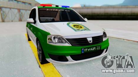 Dacia Logan Iranian Police Naja for GTA San Andreas right view