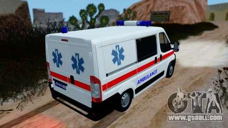 Fiat Ducato Serbian Ambulance for GTA San Andreas back left view