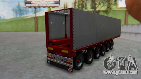 Trailer Colis Red for GTA San Andreas left view