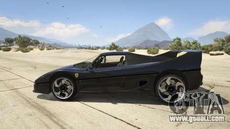 GTA 5 Ferrari F50 Autovista left side view
