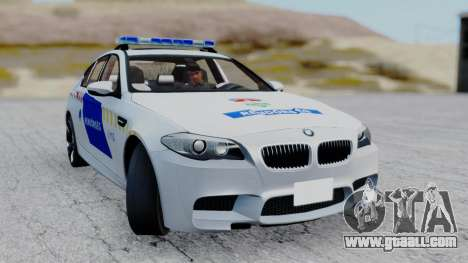 BMW M5 F10 Hungarian Police Car for GTA San Andreas back view