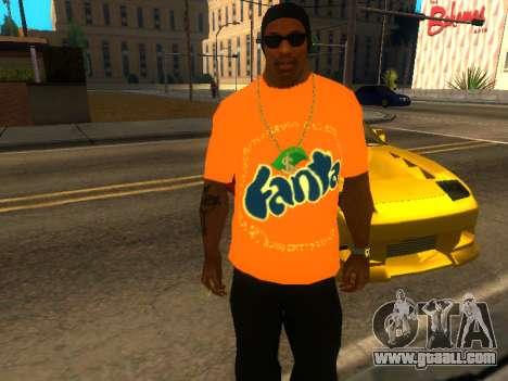 T-Shirt Fanta for GTA San Andreas