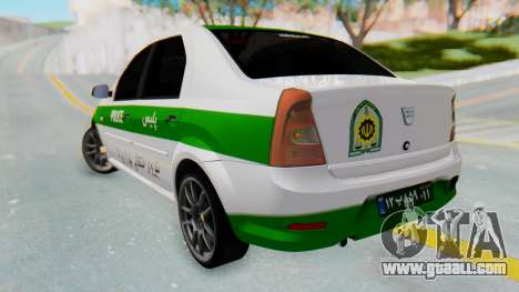 Dacia Logan Iranian Police Naja for GTA San Andreas left view
