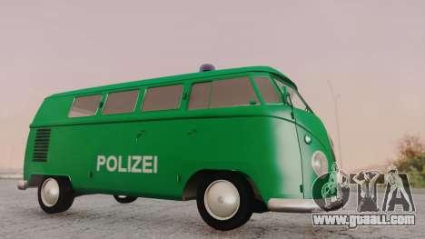 Volkswagen T1 Polizei for GTA San Andreas