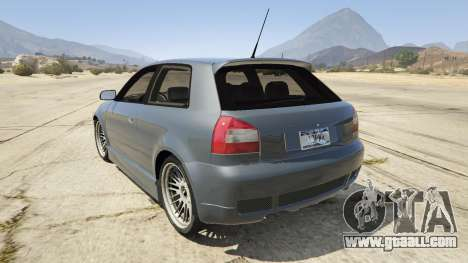 GTA 5 Audi A3 1999 Sport Edition rear left side view