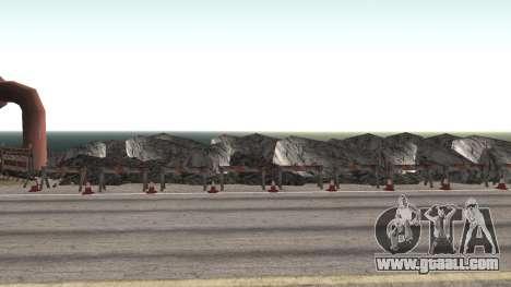 Road repair Los Santos - Las Venturas for GTA San Andreas seventh screenshot