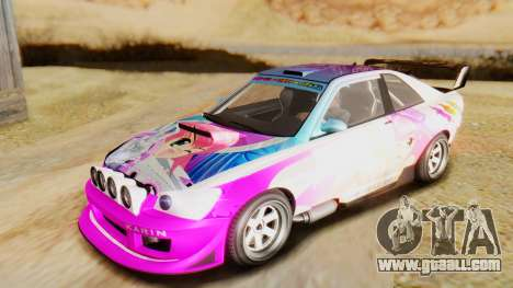 GTA 5 Karin Sultan RS for GTA San Andreas side view