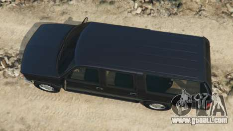 GTA 5 Chevrolet Suburban GMT400 back view