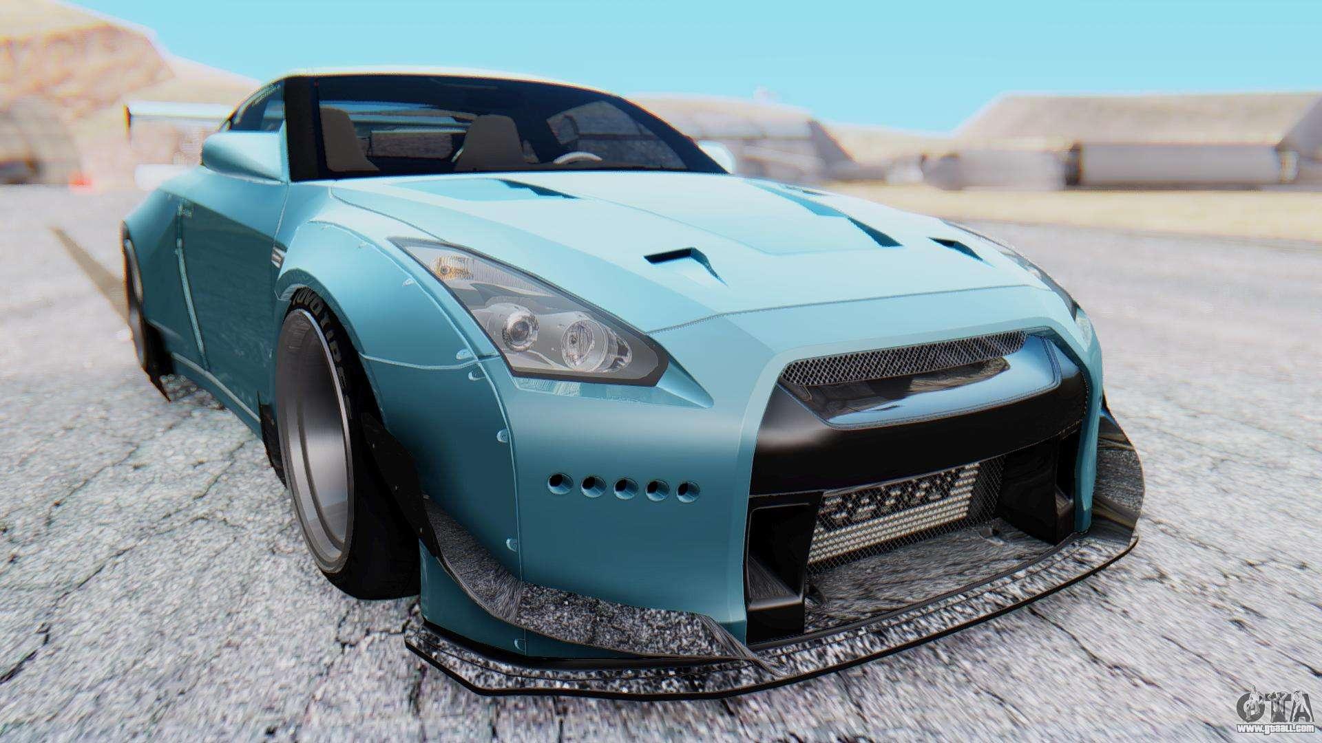 Gtr Alpha 12 >> Nissan GT-R R35 Rocket Bunny v2 for GTA San Andreas