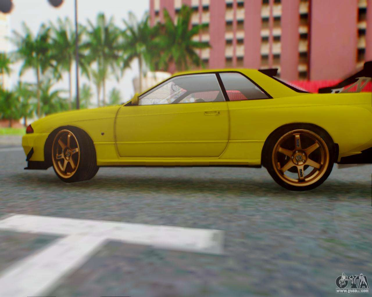 Nissan R32 Skyline Yellow Collection 9 Wallpapers