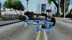 CoD Black Ops 2 - PDW-57 Camo Blue for GTA San Andreas