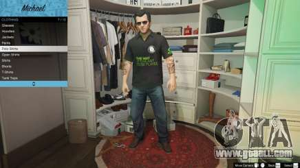 Nvidia Polo shirt for Michael for GTA 5