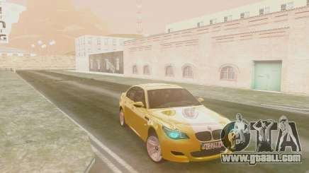 BMW m5 e60 Gold for GTA San Andreas