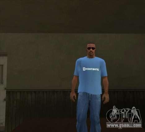 T-Shirt VKontakte for GTA San Andreas third screenshot