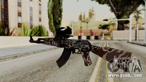 AK-47 F.C. Camo for GTA San Andreas second screenshot