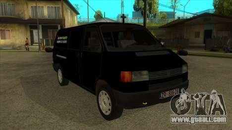 VW T4 Mrtvačka wheels for GTA San Andreas back view