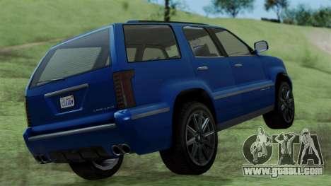GTA 5 Albany Cavalcade v2 IVF for GTA San Andreas back left view