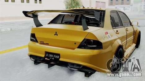Mitsubishi Lancer Evolution IX MR Edition for GTA San Andreas back view