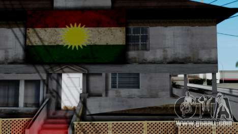 New CJ House with Kurdish Flag for GTA San Andreas third screenshot