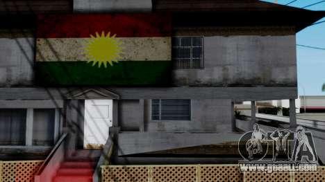New CJ House with Kurdish Flag for GTA San Andreas third screenshot